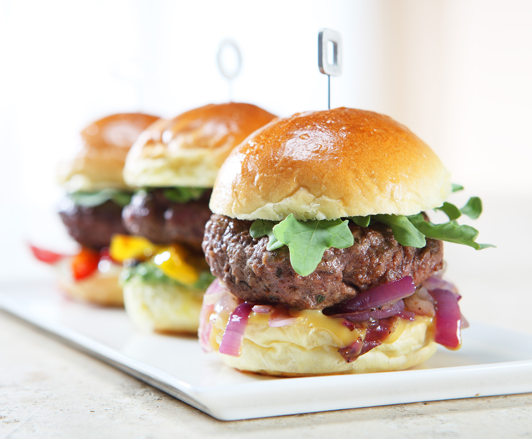 Trio of Sliders